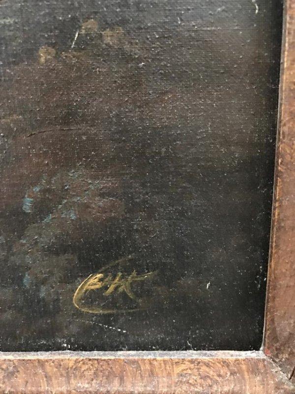 Oil on Canvas of Landscape Scene Signed - 6
