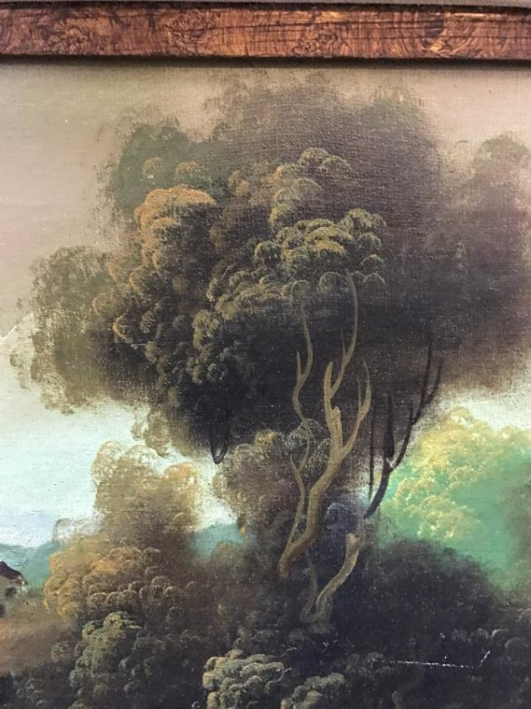 Oil on Canvas of Landscape Scene Signed - 7
