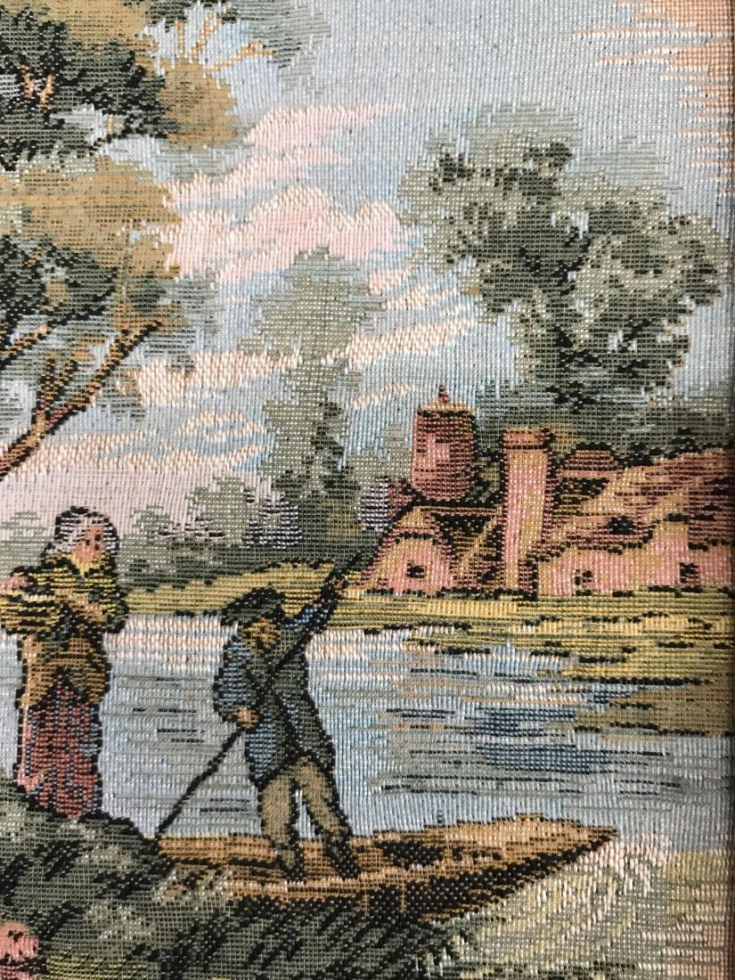 Pair of Framed Turkish  Tapestry Gobelins, 19th C - 9