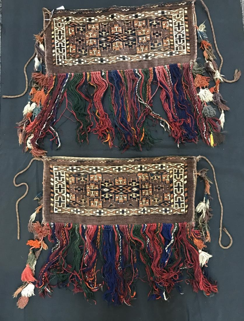 Pair of Turkish  Wool Camel Chuval Bags