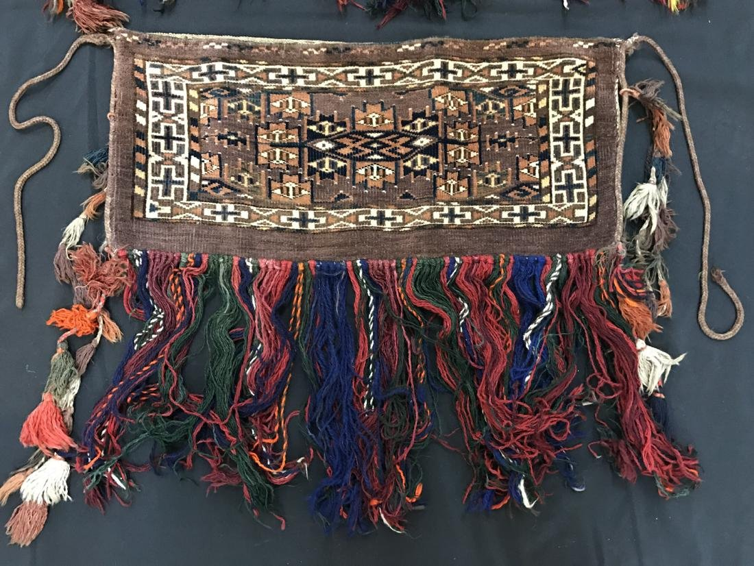 Pair of Turkish  Wool Camel Chuval Bags - 2