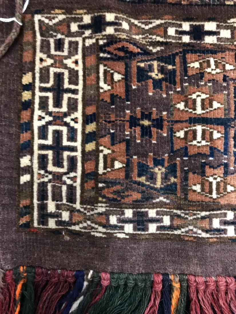 Pair of Turkish  Wool Camel Chuval Bags - 4