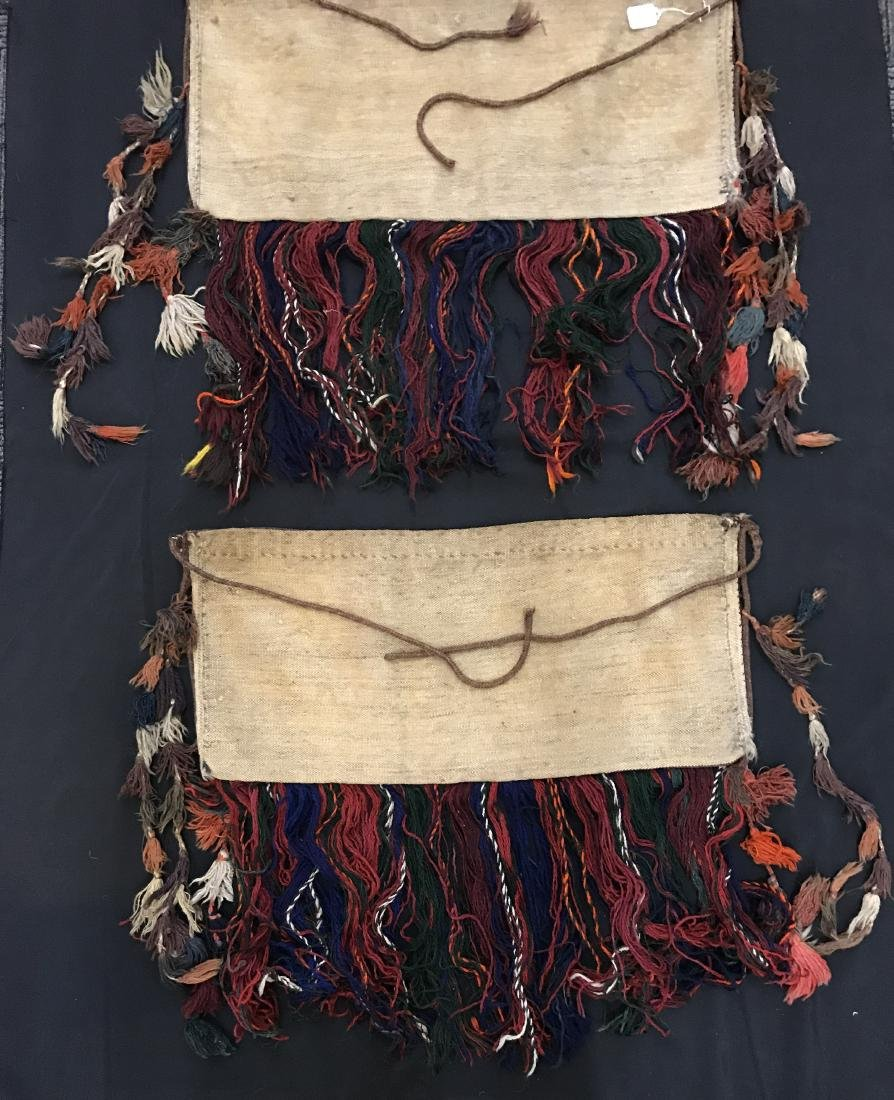 Pair of Turkish  Wool Camel Chuval Bags - 8