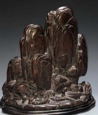 Carved Agarwood Mountain Boulder, Qing Dynasty - 2