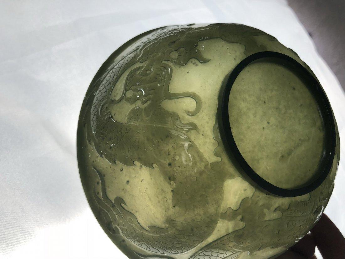 A Pair Of Chinese green jade bowls - 3