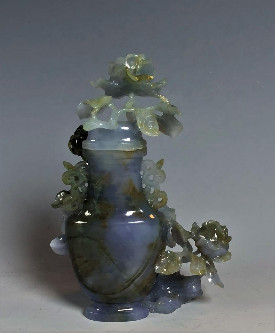 Violet Colored Jadeite Vase