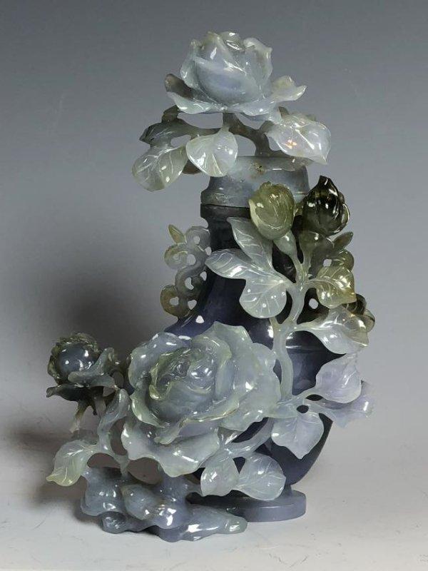 Violet Colored Jadeite Vase - 2