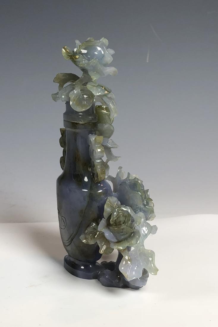 Violet Colored Jadeite Vase - 3