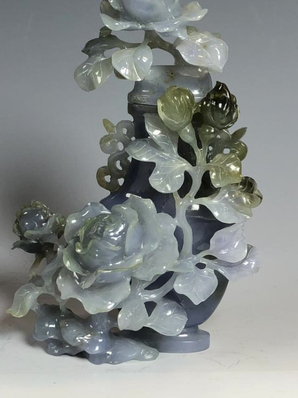 Violet Colored Jadeite Vase - 5