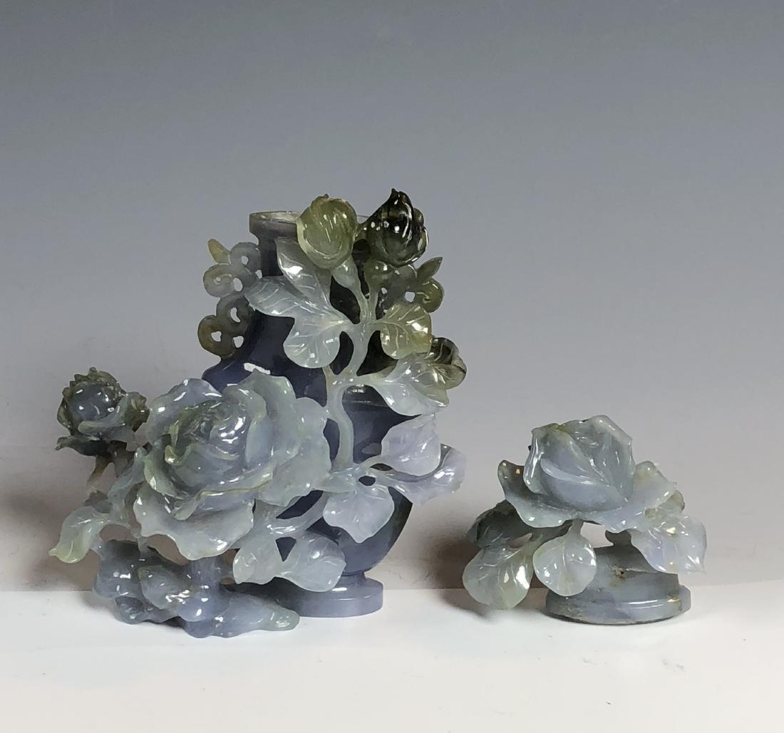 Violet Colored Jadeite Vase - 6