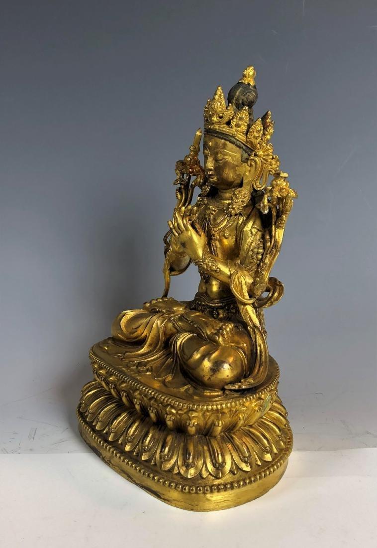 Gilt Bronze Figure of Tara - 4