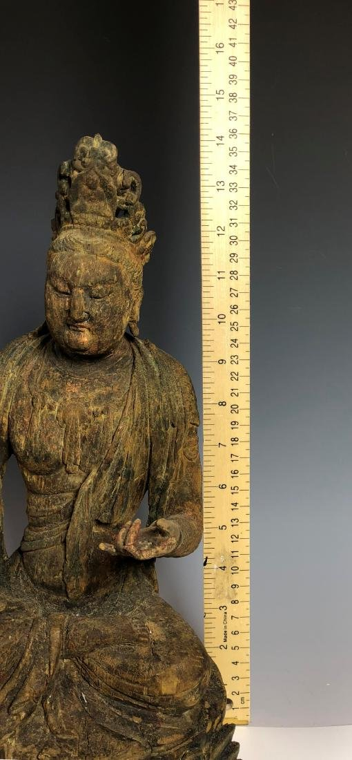 Carved Wood Figure of GuanYin - 10