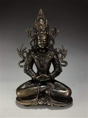 Silver Gilt Bronze Figure of Manjugosha