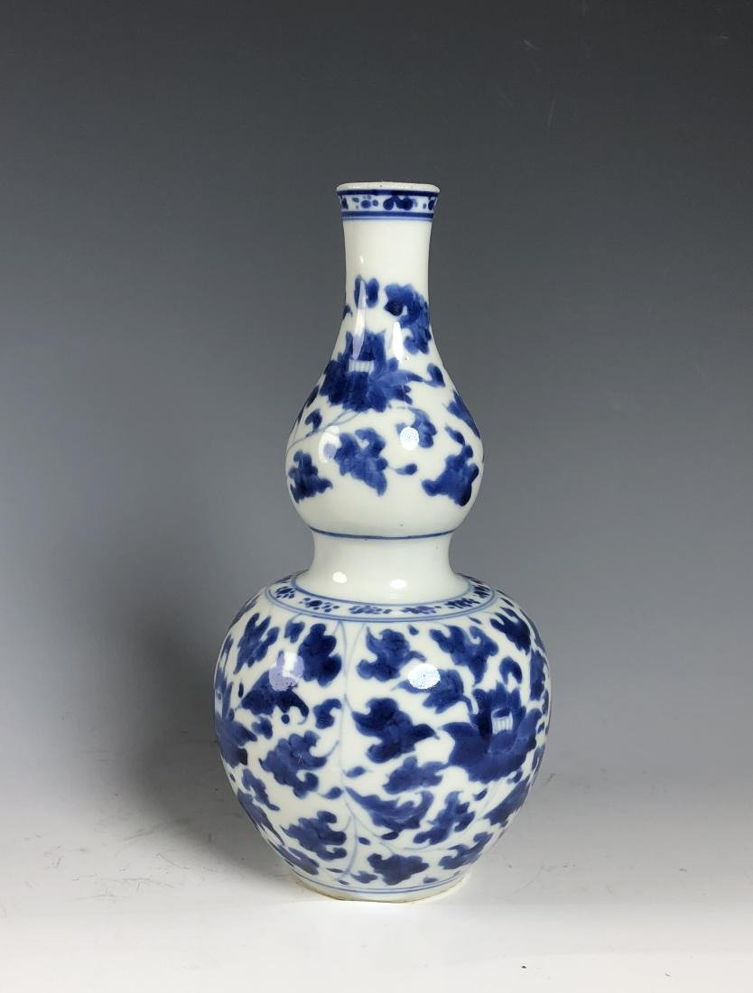 Blue and White Double Gourd Vase - 2