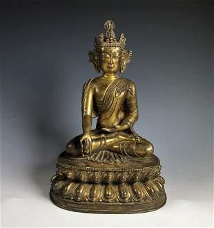Gilt Bronze Figure of Tara