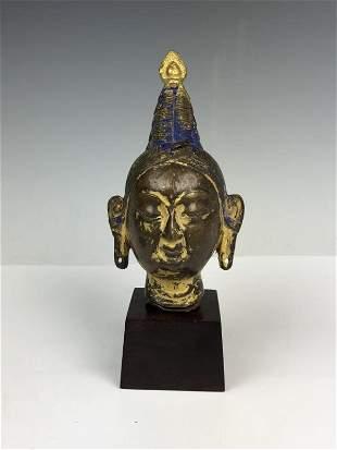 Gilt Bronze Bust of Bodhisattva