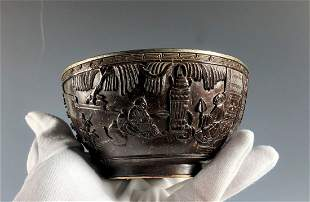 A Coconet Shell Bowl With Silver