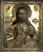 Russian Icon of Christ Pantocrator, Moscow, Circa 1839