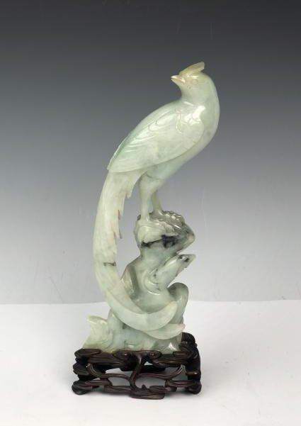 Carved Jadeite Bird