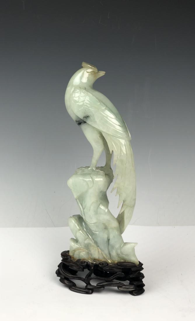 Carved Jadeite Bird - 4