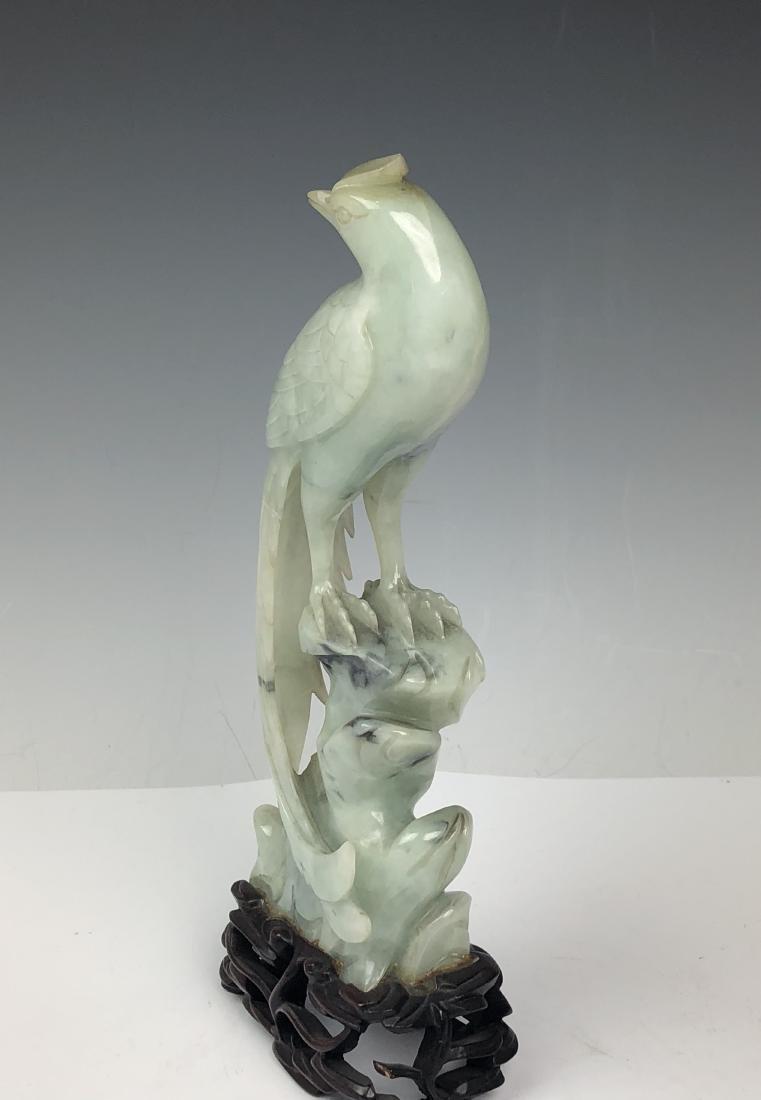 Carved Jadeite Bird - 7
