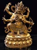 Gilt Bronze Figure of Ushnishavijayva Bodhisattva