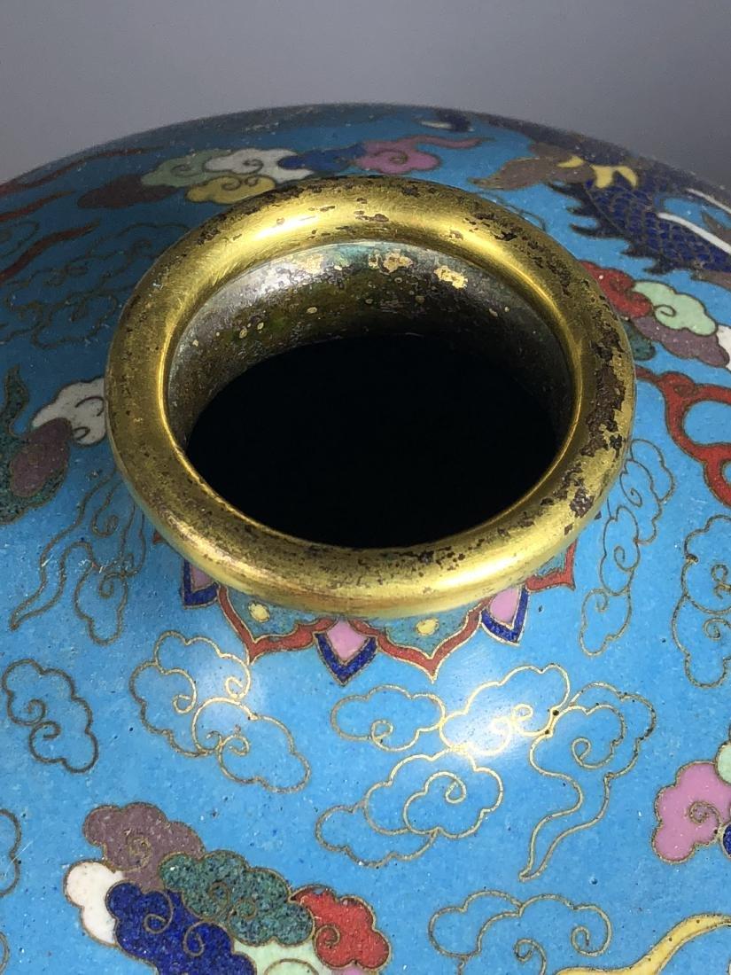 Pair of Cloisonne Enameled Meiping Vase - 7