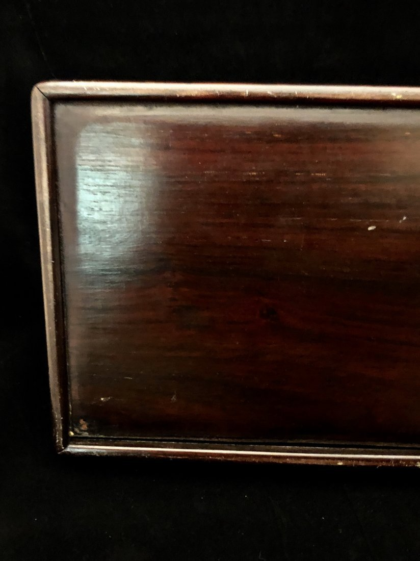 A Chinese Huanghuali Box With Box Wood Inlaiy - 9