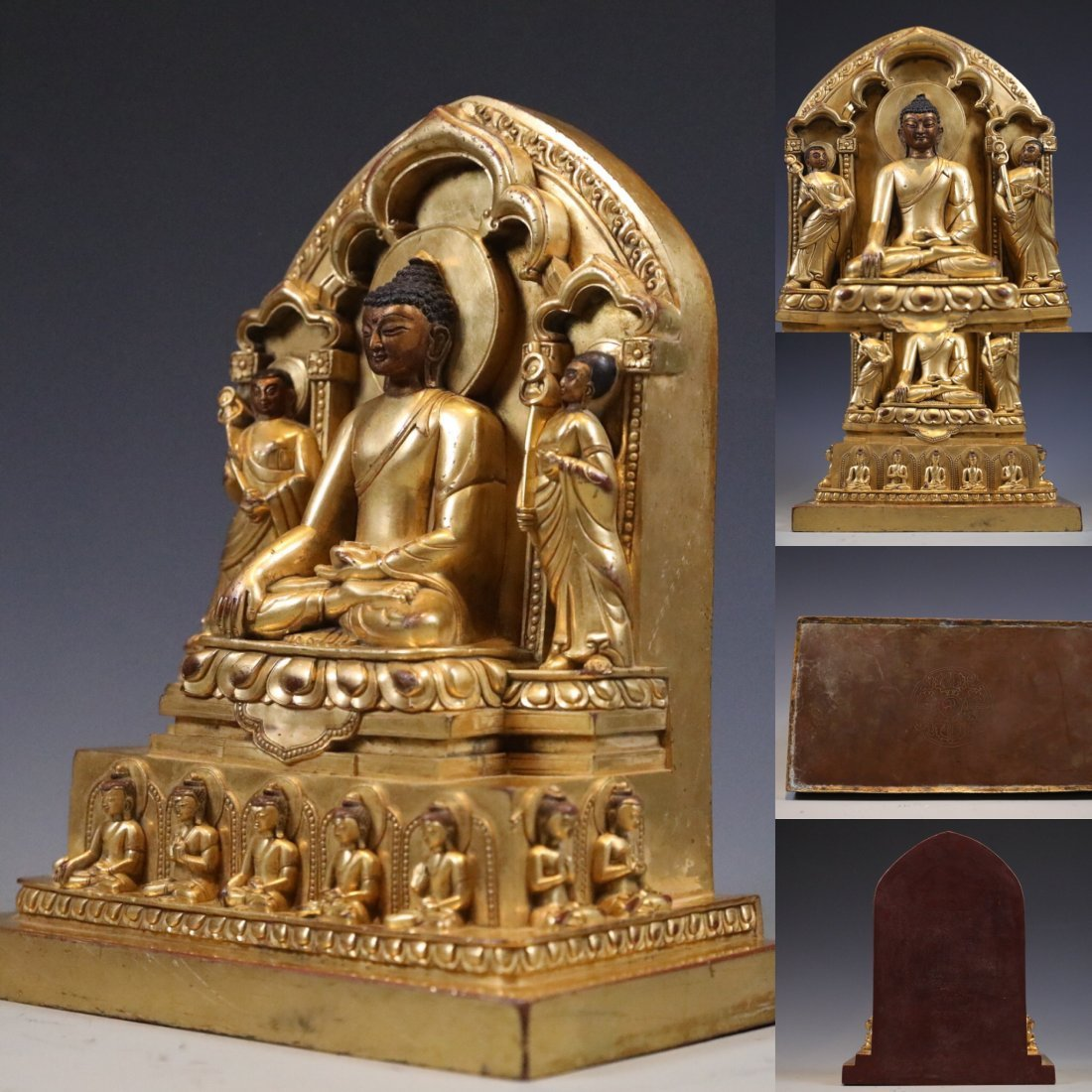 Gilt Bronze Figure of Buddha in Shrine