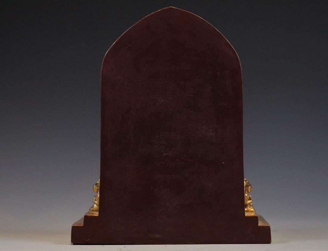 Gilt Bronze Figure of Buddha in Shrine - 7