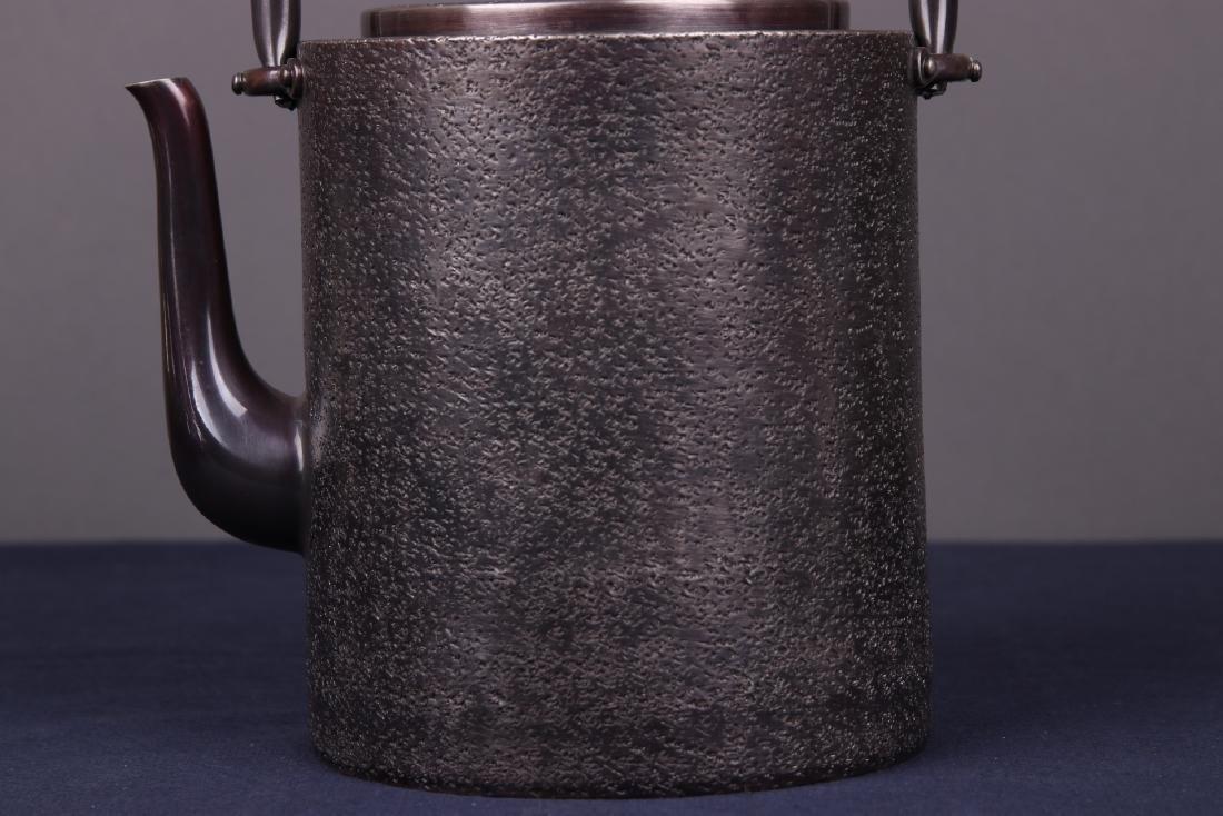 Japanese Silver Teapot - 2