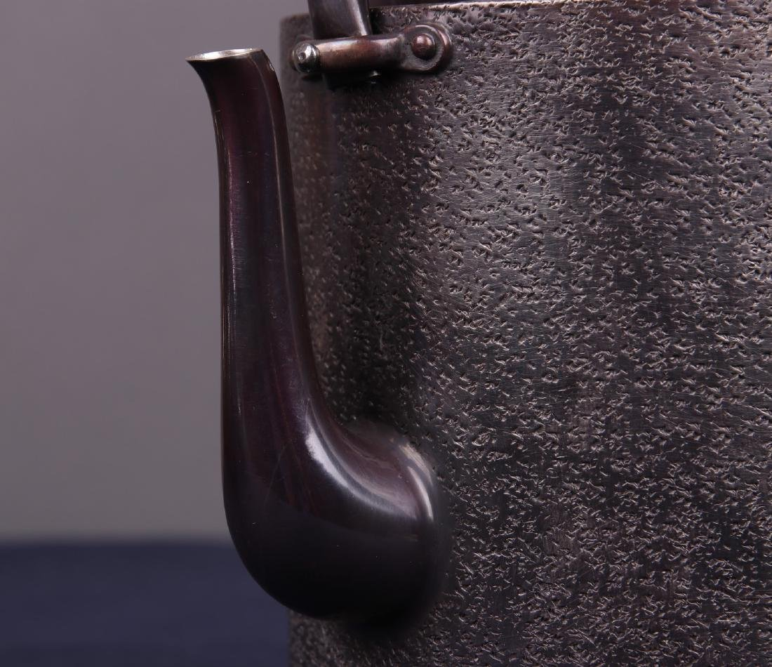 Japanese Silver Teapot - 4