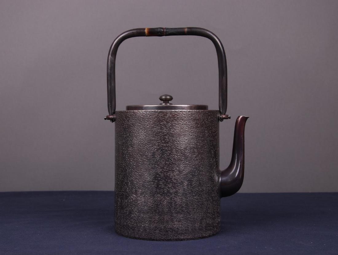 Japanese Silver Teapot - 6