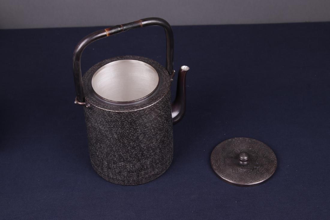Japanese Silver Teapot - 7