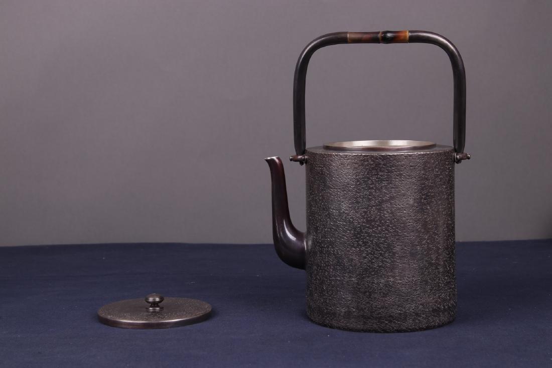 Japanese Silver Teapot - 8