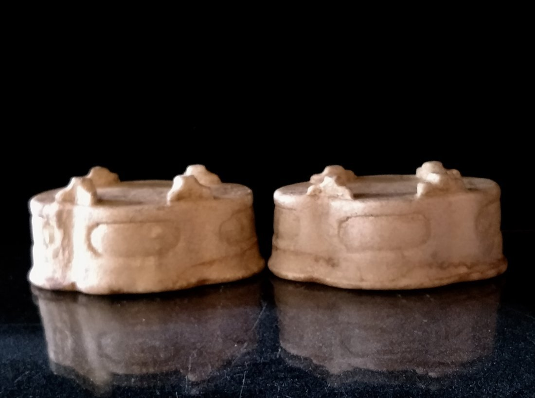 Pair of Chinese Carved Stone Censer - 7