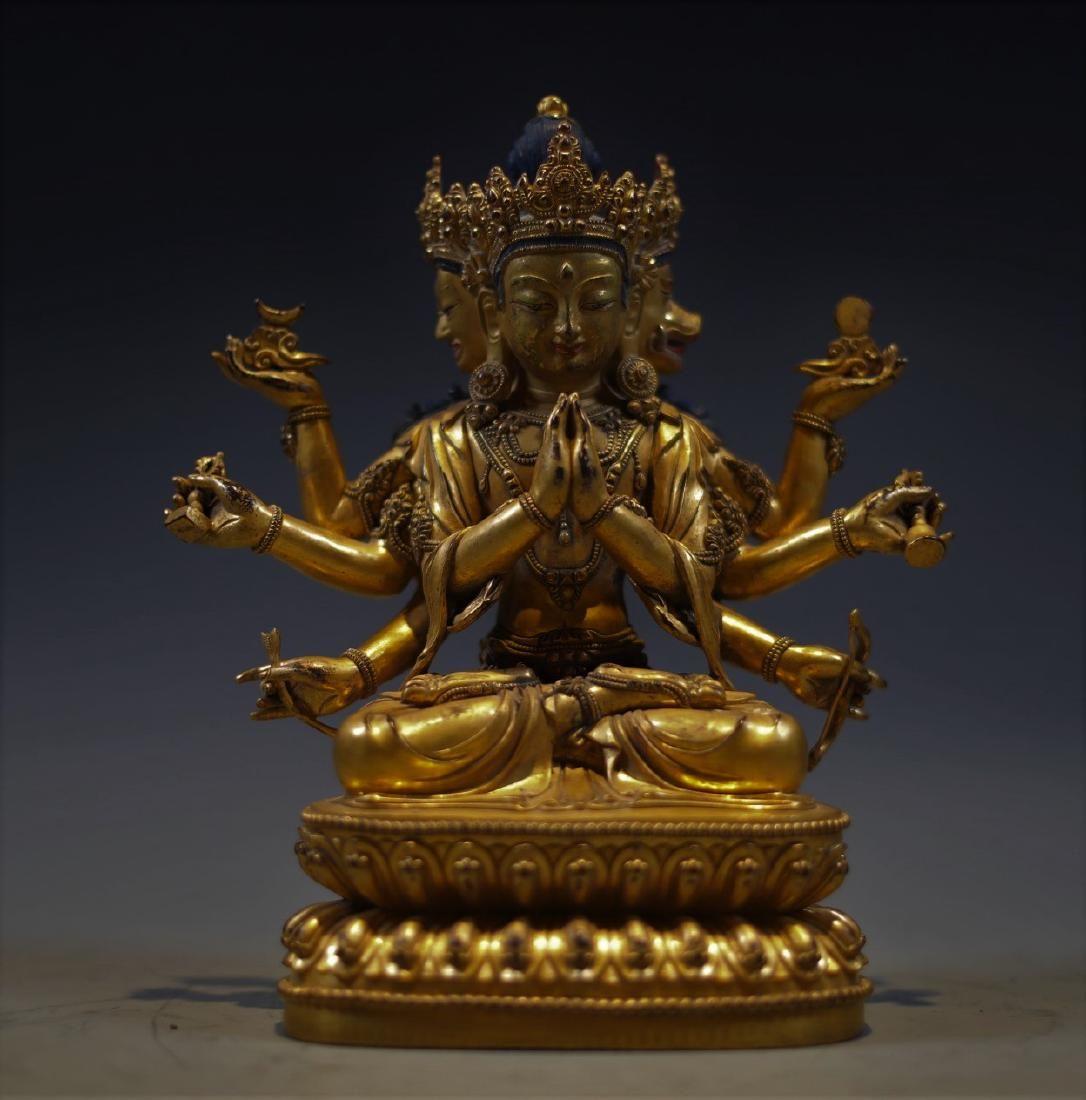 Gilt Bronze Figure of Ushnishavijayva
