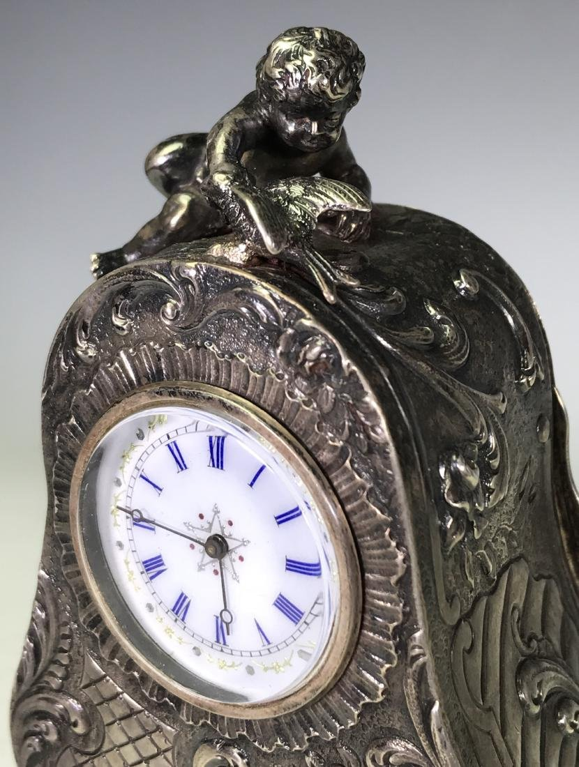 SMALL BRASS CARRIAGE CLOCK - 6