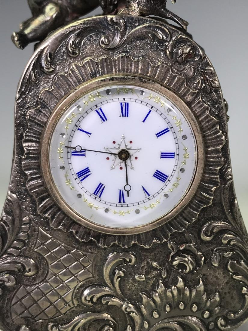 SMALL BRASS CARRIAGE CLOCK - 7