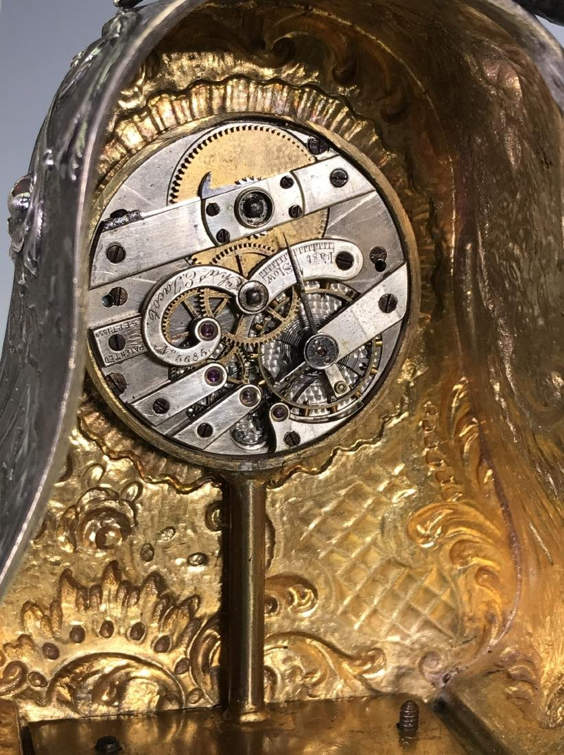 SMALL BRASS CARRIAGE CLOCK - 9