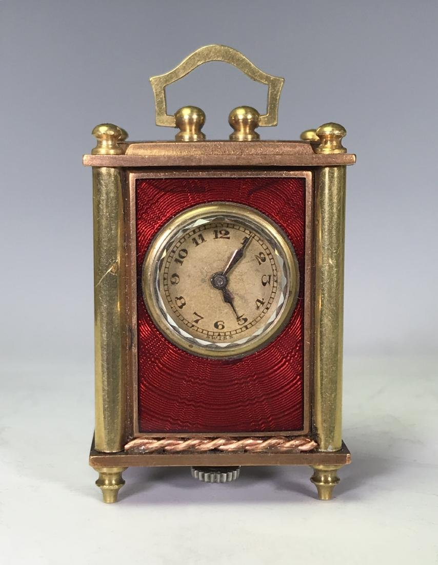 SMALL BRASS CARRIAGE CLOCK