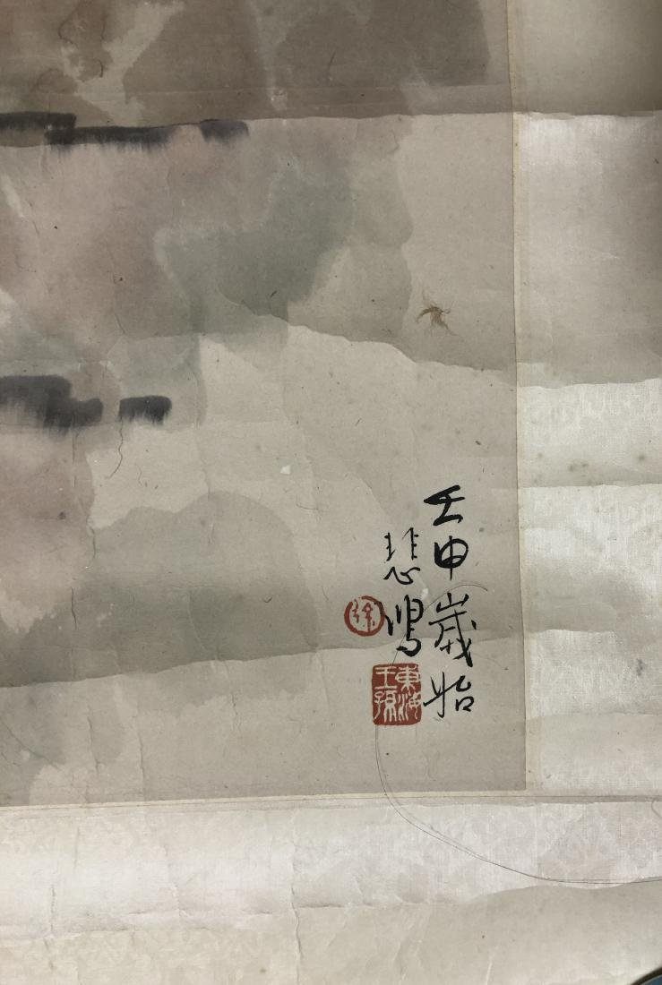 CHINESE INK ON PAPER PAINTING SIGNED BY - 5