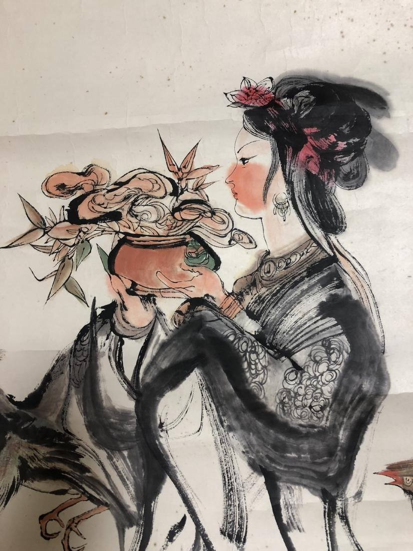 CHINESE INK ON PAPER PAINTING SIGNED BY - 4