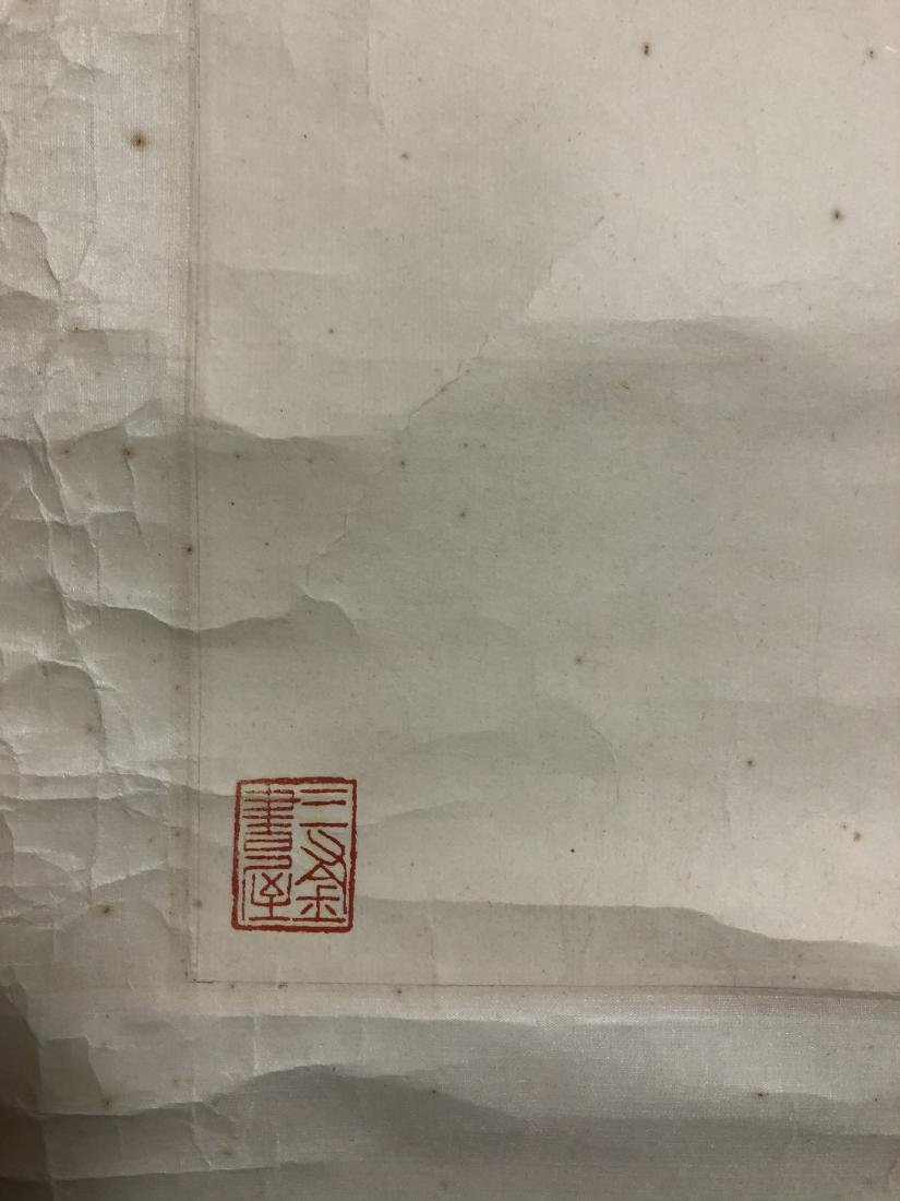 CHINESE INK ON PAPER PAINTING SIGNED BY - 9