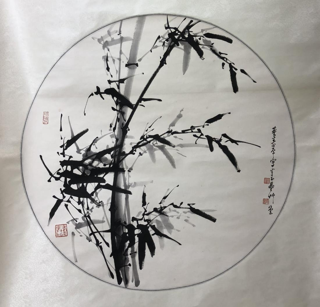 CHINESE INK ON PAPER PAINTING SIGNED BY