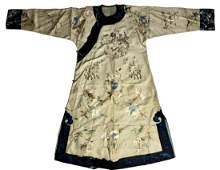 CHINESE LADY'S SILK EMBROIDERED INFORMAL ROBE