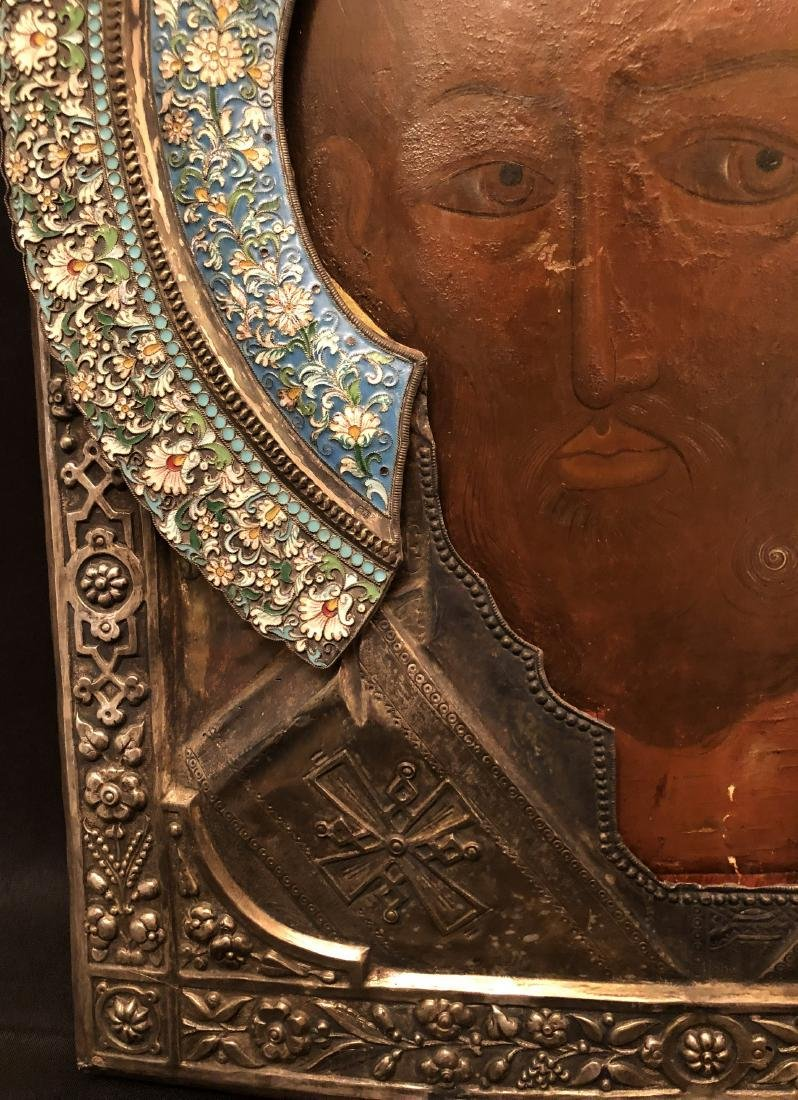 RUSSIAN ICON IN SILVER FRAME - 4