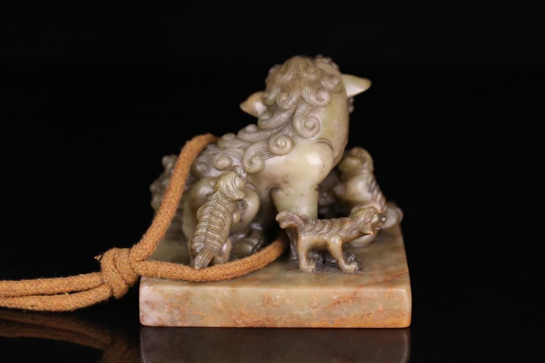 Soapstone Mythical Beast Seal - 3