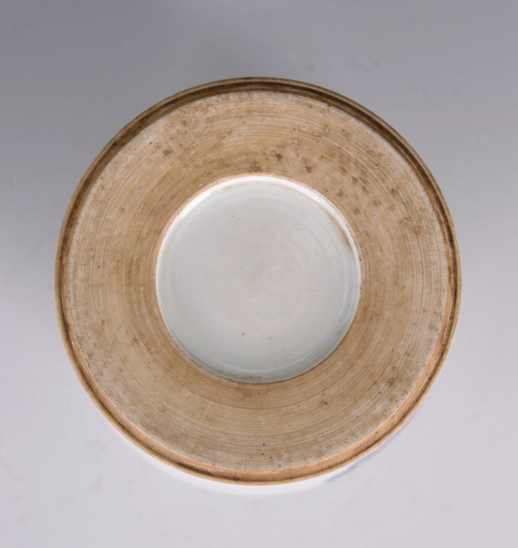 White Glazed Meiping Porcelain Vase - 10