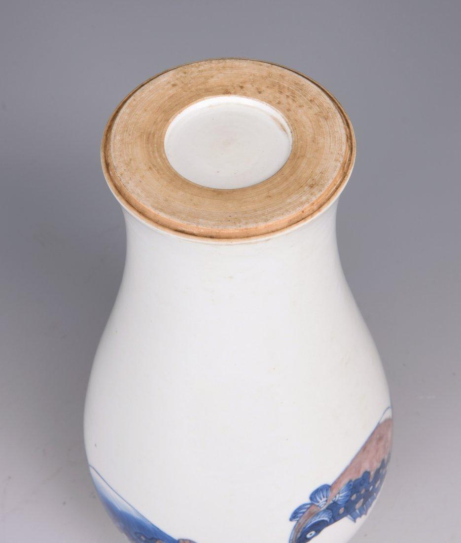 White Glazed Meiping Porcelain Vase - 8